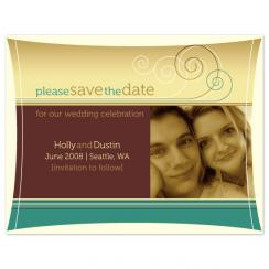 Coastal Whimsy Save the Date Cards