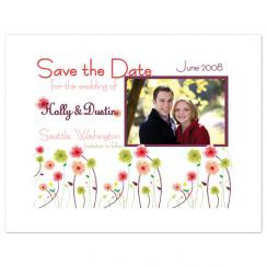 Flower Garden Party Save the Date Cards
