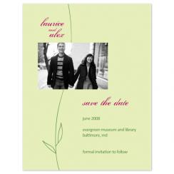 Simple Vine Save the Date Cards