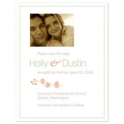 Garden Fresh Save the Date Cards