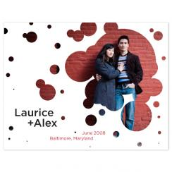 Bubbles Save the Date Cards