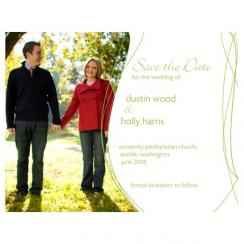 Green Whimsy Save the Date Cards