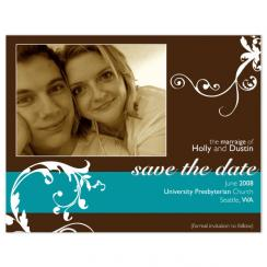 Brown Swirls Save the Date Cards