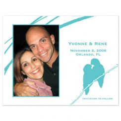 Lovebirds Save the Date Cards