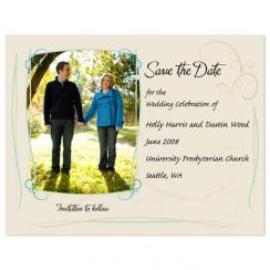Elegant Garden Party Save the Date Cards