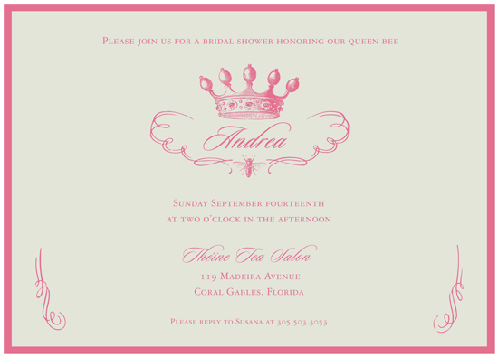 bridal shower invitations - Queen Bee by The Social Type