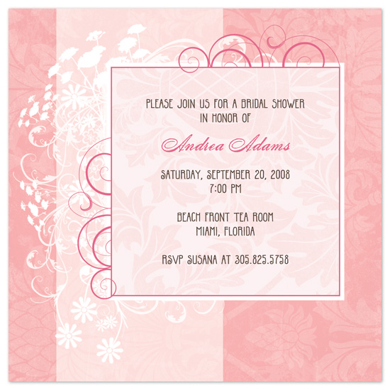 Bridal Shower Invitations Pretty In Pink By Mice Coleman