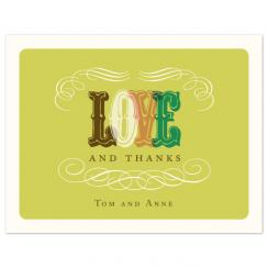 LoveThanks Thank You Cards