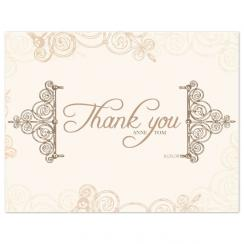 Fall Elegance Thank You Cards