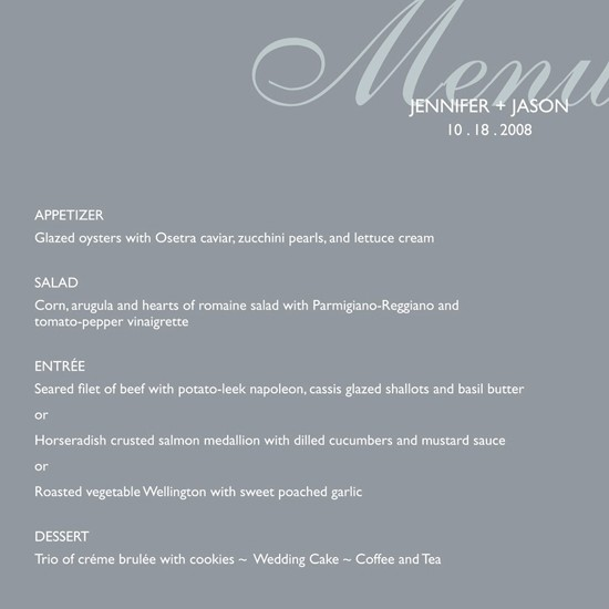 Posh Menu Posted By Thurlow Bologna