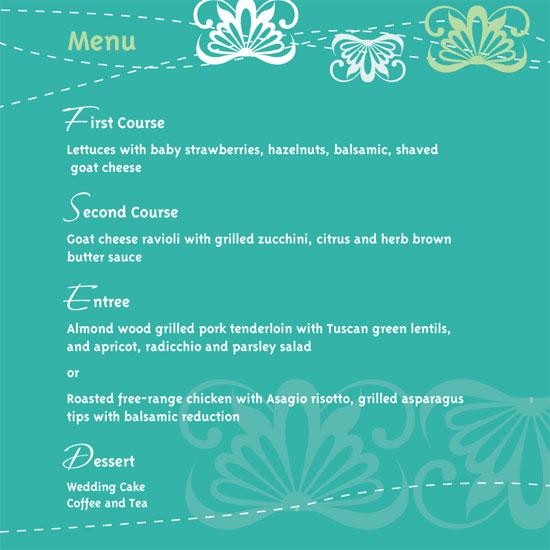 menu cards - Springtime Fresh by Paula's INK  (Paula Sandor)