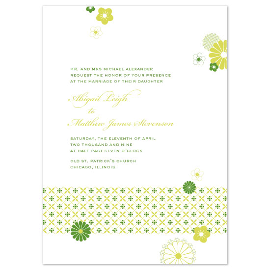 wedding invitations - Spring Fling by Peculiar Pair Press