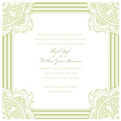 paisley green Wedding Invitations