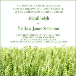 Field of Dreams Wedding Invitations
