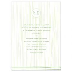 Modern Grass Wedding Invitations