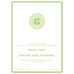 float + garden maze Wedding Invitations