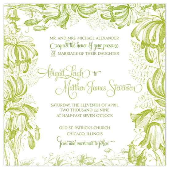 wedding invitations Garden Fairy Tale by Splendid Press