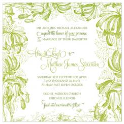 Garden Fairy Tale Wedding Invitations