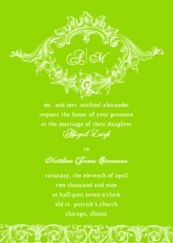 Cartouche Wedding Invitations