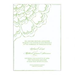 asymetrical Wedding Invitations