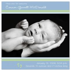 Connor Dear Birth Announcements