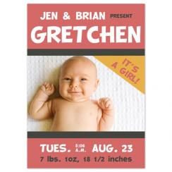 Baby on Tour Birth Announcements