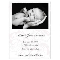 Delicate Elegance Birth Announcements