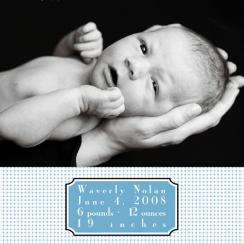 Dots and Dashes Birth Announcements