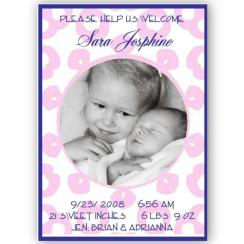 Baby Love Birth Announcements