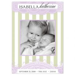 lace Birth Announcements