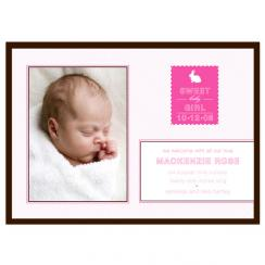 Stamped Birth Announcements