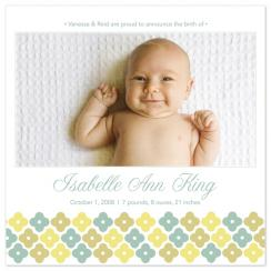 Field of Flowers Birth Announcements