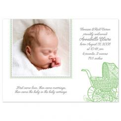 First Comes Love Birth Announcements