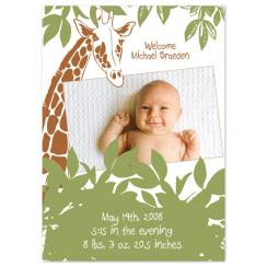 sweet safari Birth Announcements