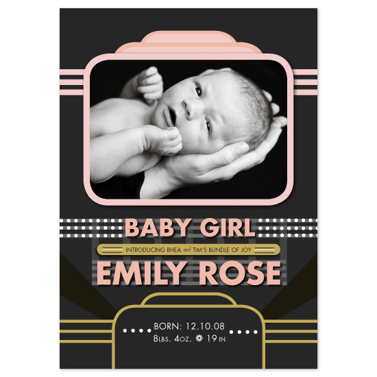 birth announcements - Hollywood Style by Natalie Sullivan Graphic Design