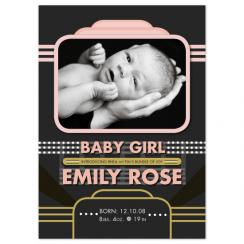 Hollywood Style Birth Announcements