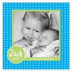 Preppy Swiss Dots Birth Announcements
