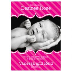 Pretty In Pink Birth Announcements