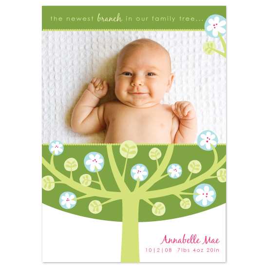 birth announcements - Family Tree by Laura Hankins
