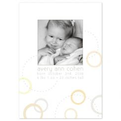 Modern Neutrals Birth Announcements