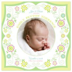 Sweet Lil' Garden Birth Announcements