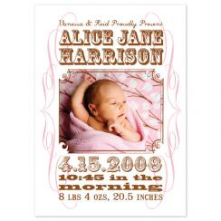 Wanted Birth Announcements