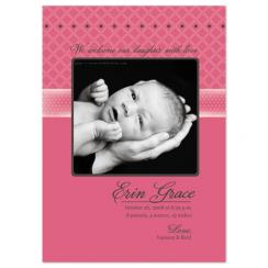 Pink Simplicity Birth Announcements