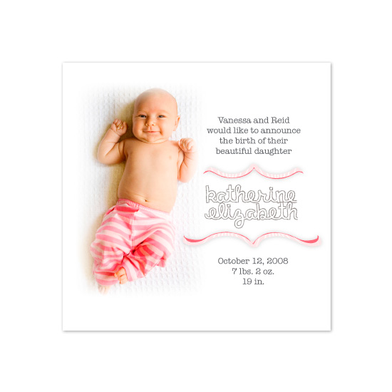 birth announcements - stripes by Napkin Rings and Elephant Ears