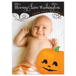 Pumpkin Head Birth Announcements