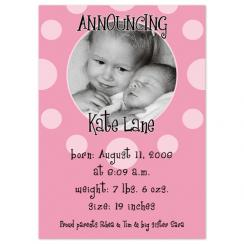 A Pearl of a Girl Birth Announcements