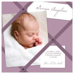 Memo Board Birth Announcements