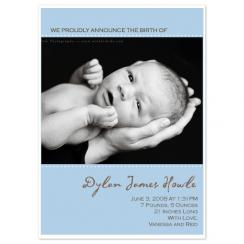 Classic Blue Frame Birth Announcements