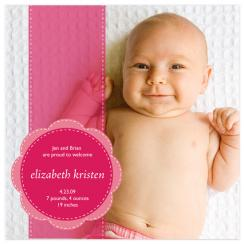Pink Ribbon Birth Announcements