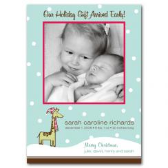 Holiday Delivery Birth Announcements